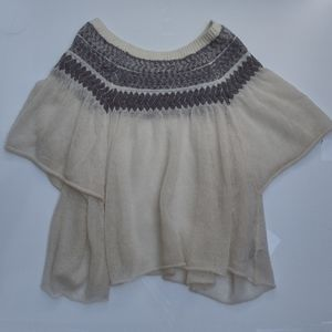 Free People Oversized short sleeve sweater small